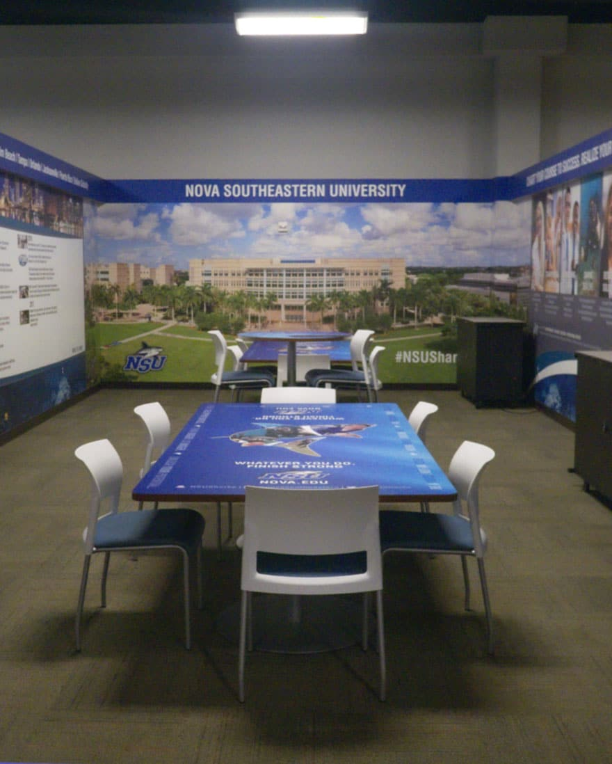 Nova Southeastern University Room Wall Wrap